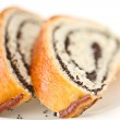 Roll with poppy seeds — Stock Photo #9069381
