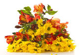 A bouquet of chrysanthemums and gerberas — Stock Photo