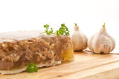 Meat in aspic — Stock Photo