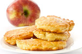 Fried fritters with apple — Stock Photo