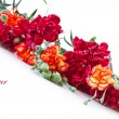 Bouquet of red carnations — Stock Photo #9714277