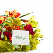Bouquet of alstroemeria with gratitude — Stock Photo