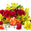 Stock Photo: Alstroemeriand red carnations