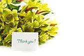 Bouquet of alstroemeria with gratitude — Stock Photo