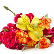 Alstroemeria and red carnations — 图库照片