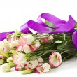 Bouquet of pink flowers lisianthus — Stock Photo #9890067