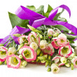 Bouquet of pink flowers lisianthus — Stock Photo #9890156