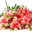 Bouquet of pink carnations and lisianthus flowers — Stock Photo #9890499