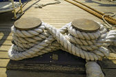 在码头的绳索 — 图库照片