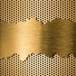 Foto de Stock  : Golden metal grate background