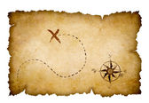 Pirates treasure map — Stock Photo