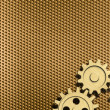 Golden background with few gears — Stock Photo