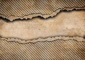 Grunge torn cardboard background with gray stripes — Foto de Stock