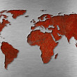 Rusty metal world map concept — Stock Photo #10725939