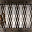 Stock fotografie: Metal damaged grate background