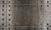 Armour metal background with rivets — Stock Photo