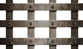Ancient rusty metal bars isolated on white — Stock Photo