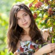 Teenage girl outdoor in summer day - Stock Photo