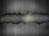 Silver metal grate background — Stockfoto