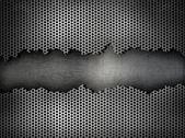銀の金属の格子背景 — ストック写真
