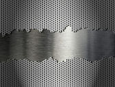 Silver metal grate background — Stock Photo