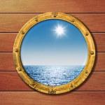 Ship porthole — Stock Photo