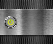 Power button on — Stock Photo