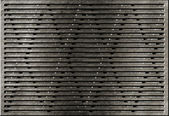 Grunge metal grate industrial background — Stock fotografie