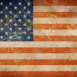 Grunge USA flag as a background - Stock Photo