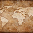 Grunge world map background - Stock Photo