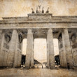 Royalty-Free Stock Photo: Brandenburg Gate (Brandenburger Tor) in Berlin, grunge postcard