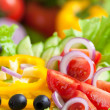 Healthy food fresh vegetable salad — Stock Photo