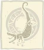 Alligator Circle — Stock Vector