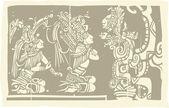 Mayan Priests Vision A — Stock Vector