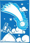 Blue Comet — Stock Vector