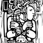 Mayan Woodcut Style 3 — Stock Vector