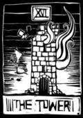 Tower Tarot — Stock Vector