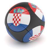Croatian Soccer Ball — Stock Photo