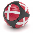 Danish Soccer Ball - Stock Photo