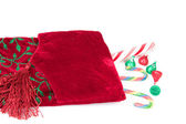 Red Christmas Stocking — Stock Photo