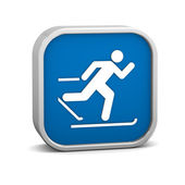 Cross country skiing sign — Stock Photo