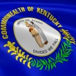 Kentuckian flag in the wind - Stockfoto