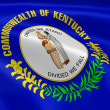 Kentuckian flag in the wind - Stock Photo