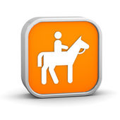 Horseback trail sign — Stock Photo