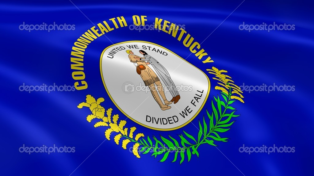 Kentuckian flag in the wind. Part of a series. — Stock Photo #10349872