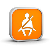 Seat Belt sign — Stock Photo