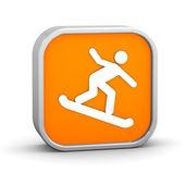 Znak snowboardzista — Zdjęcie stockowe