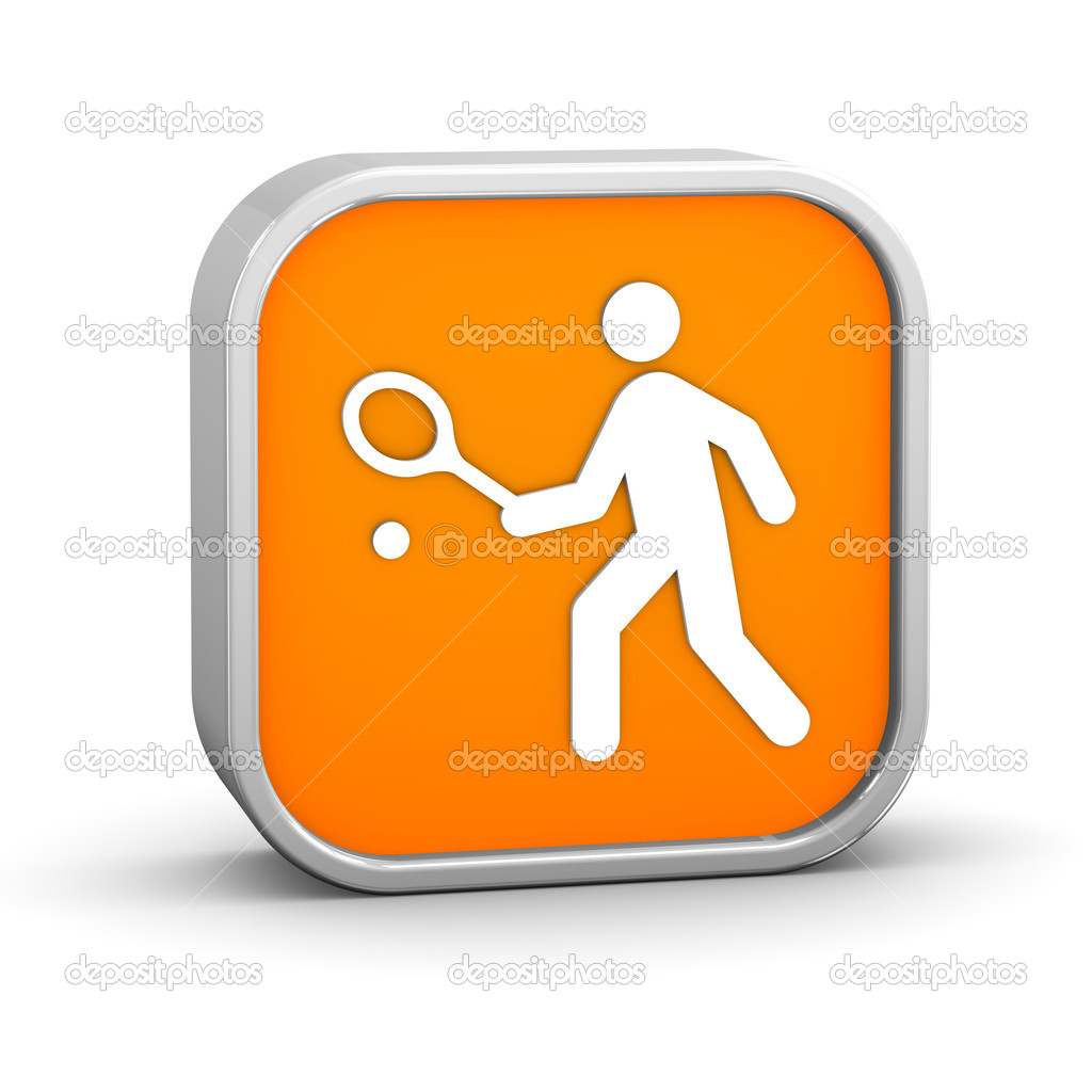 Tennis sign on a white background. Part of a series. — Stock Photo #10596771