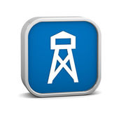 Lookout tower sign — Stockfoto