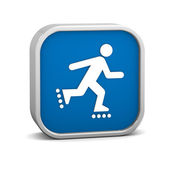 Rollerblade sign — Stock Photo